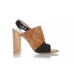 Gianvito Rossi sandals 40 brown black Bloch heels